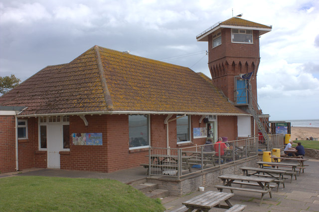 Beachfront cafe at Exmouth