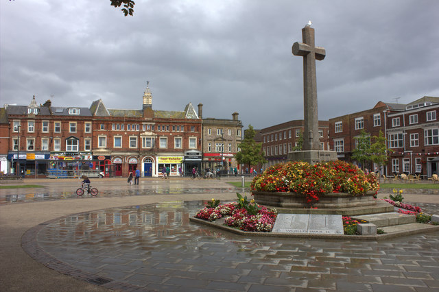 Exmouth. Strand Square after the rain