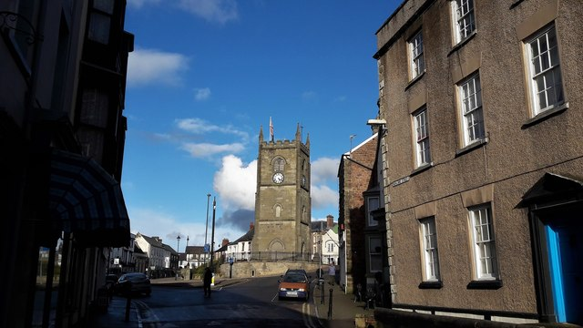 Town centre from Newland Street, Coleford