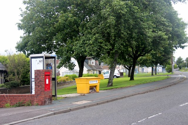 Letterbox and phonebox in Knockentiber