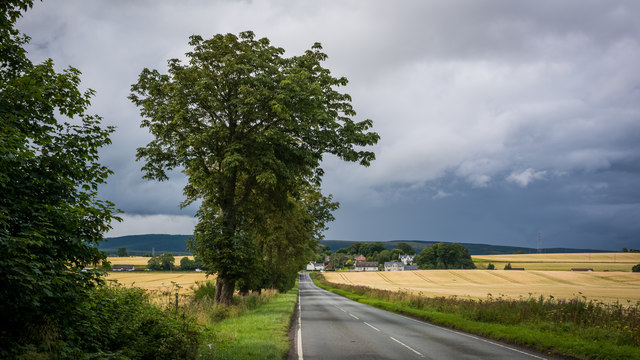 Road from Invergordon to the A9 at Tomich