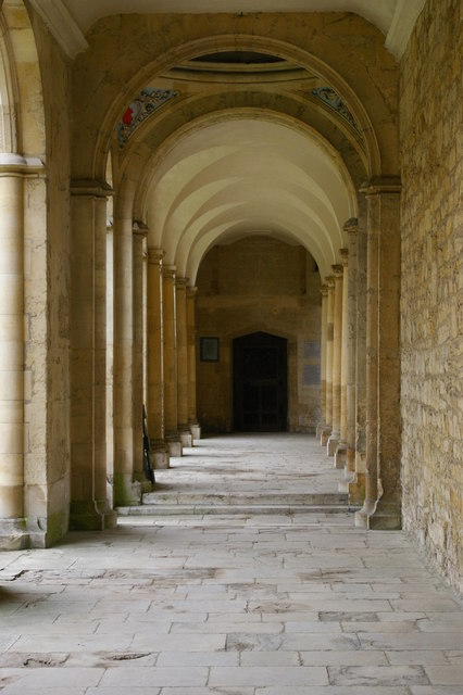 All Souls College, Oxford: colonnade under the Codrington Library