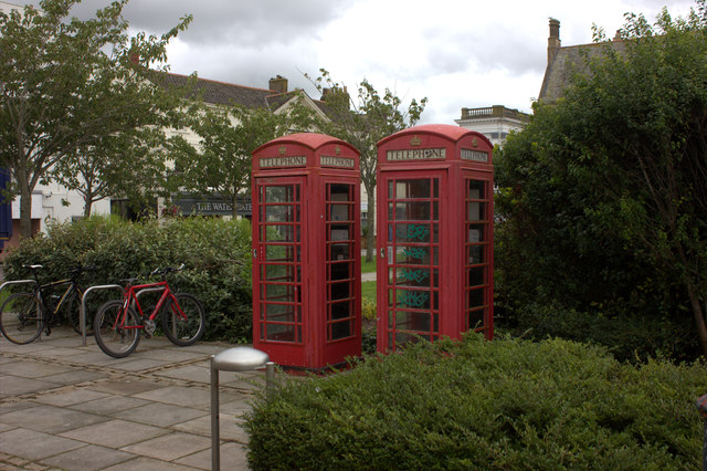 Telephone boxes, off The Strand, Barnstaple