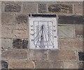 NZ7218 : Sundial - above Co-op Store - High Street by Betty Longbottom