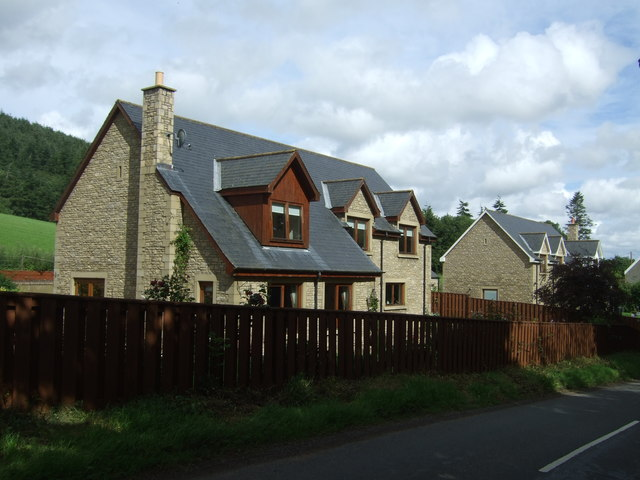 Houses on the B6355, Burnhouses