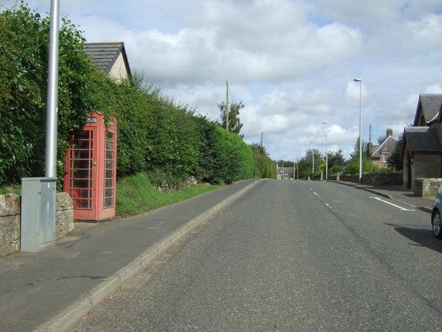 Telephone box on the A6112, Preston