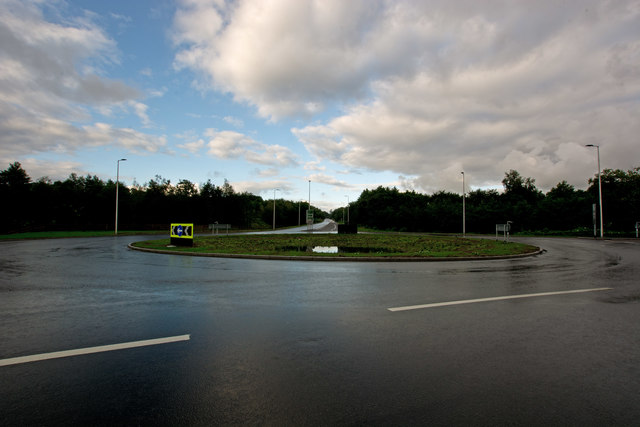 The A361 heading south west away from the new Portmore Roundabout