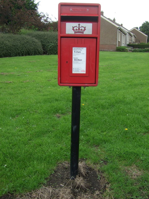 Elizabethan postbox on Suttieslea Road, Newtongrange