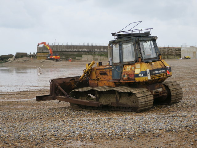 Bulldozer by Harbour Arm