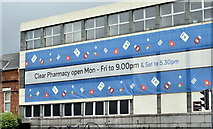 J3272 : Pharmacy advertising, Belfast (July 2017) by Albert Bridge