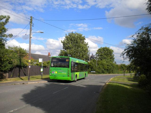 Bus at Bottesford station (1)