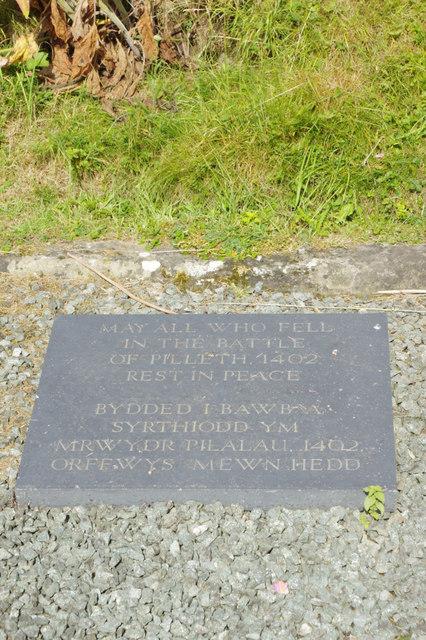 Commemoration plaque - Pilleth Churchyard