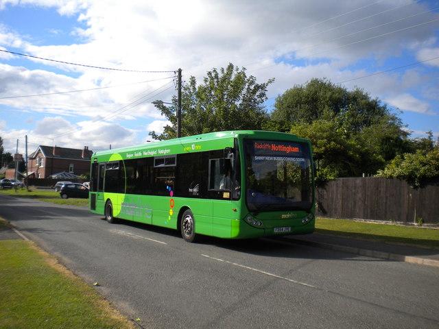 Bus at Bottesford station (2)