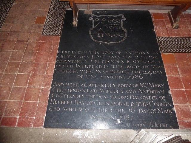 St Bartholomew, Burwash: memorial (x)
