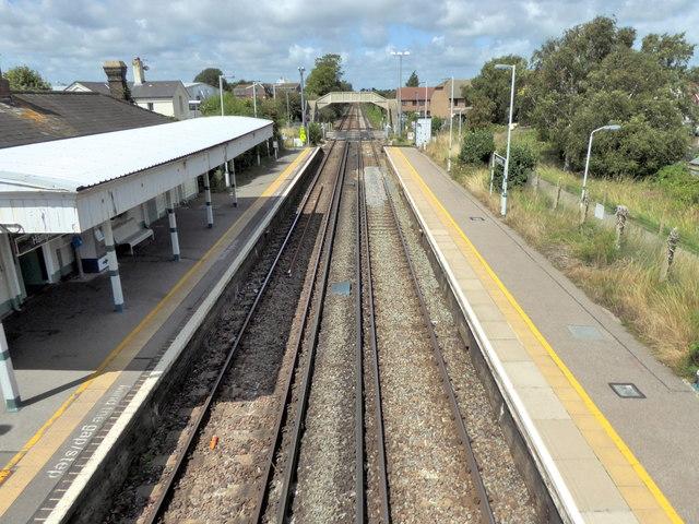 Railway Line at Hampden Park Station