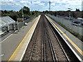 TQ6002 : Railway Line at Hampden Park Station by PAUL FARMER