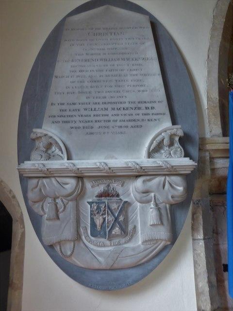 St Bartholomew, Burwash: memorial (xv)