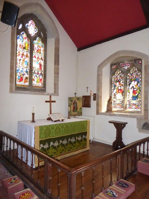 St Bartholomew, Burwash: side altar