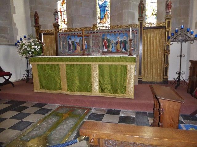 St Bartholomew, Burwash: main altar