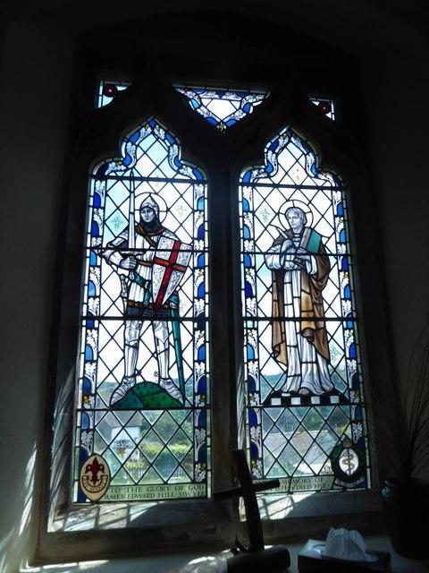 St Bartholomew, Burwash: stained glass window (D)