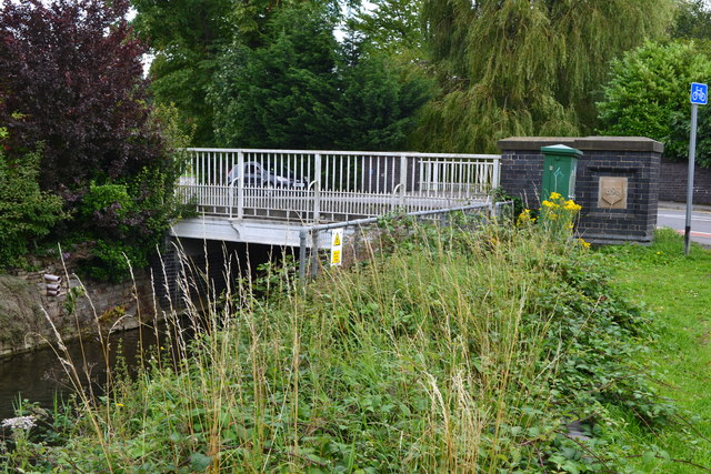 Bridge End Road crossing the River Witham