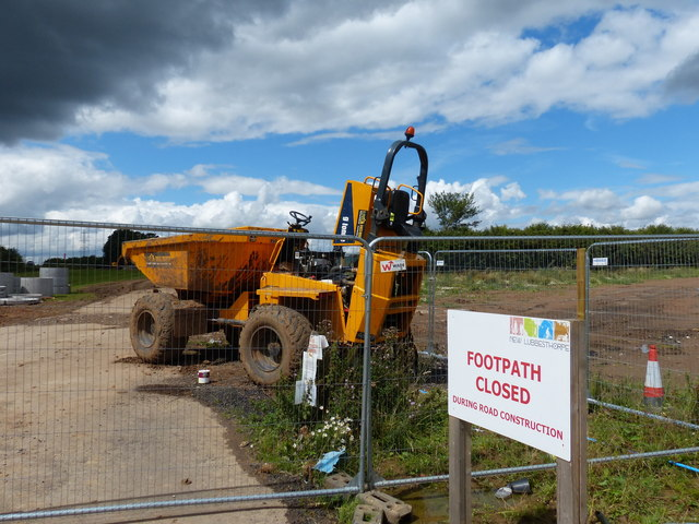 Construction work at New Lubbesthorpe