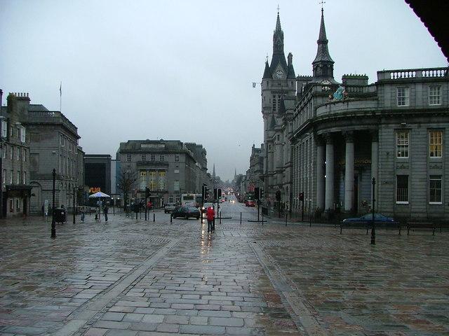 Looking down Union Street from the Mercat Cross, Aberdeen
