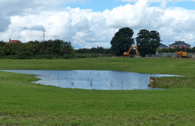 New pond at New Lubbesthorpe