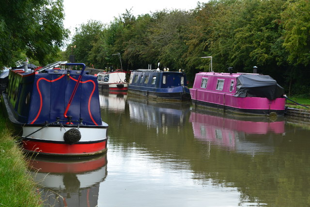 Narrowboats outside Trinity Marina