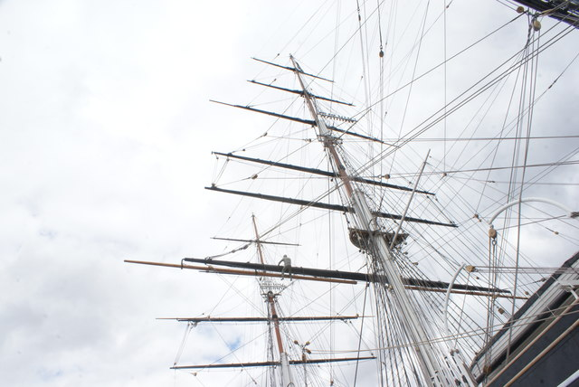 Looking up at the masts of the Cutty Sark #3
