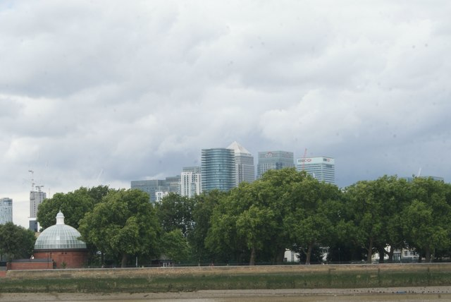View of Canary Wharf from Greenwich Riverside