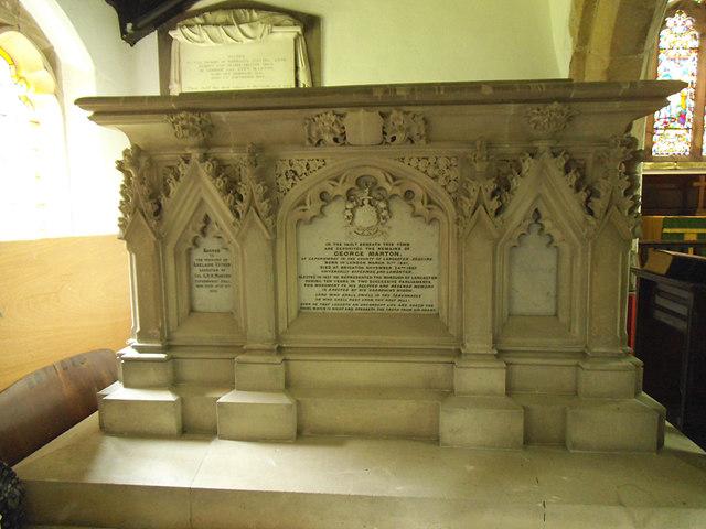 St John the Evangelist, Gressingham: Marton tomb
