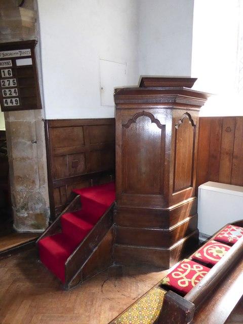 St Thomas à Becket, Brightling: pulpit