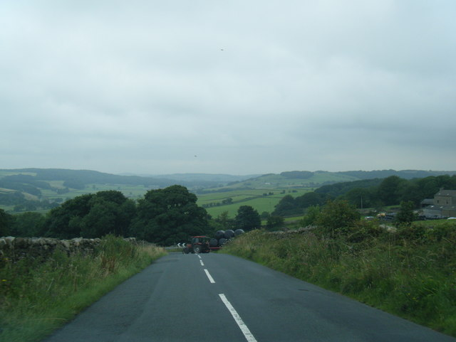 Road descending Quernmore Brow