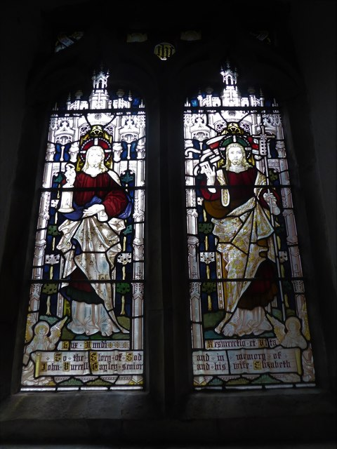 St Thomas à Becket, Brightling: stained glas window (A)
