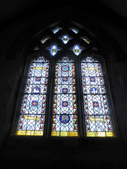 St Thomas à Becket, Brightling: stained glas window (D)