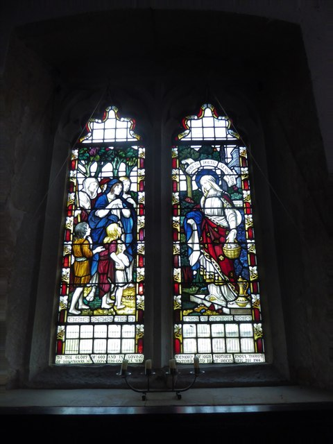 St Thomas à Becket, Brightling: stained glas window (E)