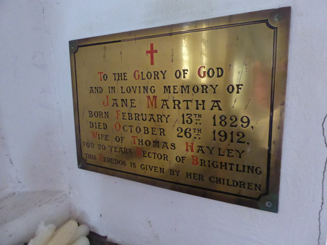 St Thomas à Becket, Brightling: memorial (5)
