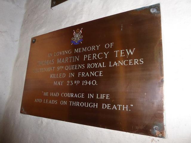 St Thomas à Becket, Brightling: memorial (11)