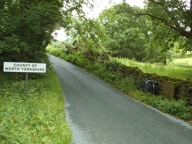 County boundary at Mewith