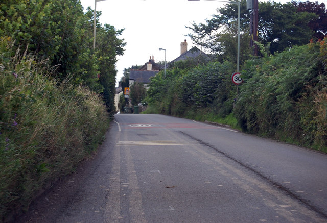 A3124 entering Beaford