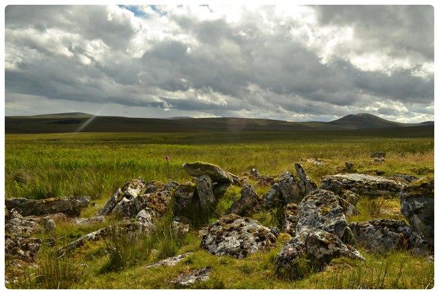 Remains of Aisled House near Morven, Caitheness