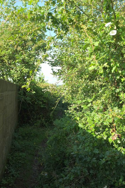 Footpath from Cuckoo Pit Lane, Torquay
