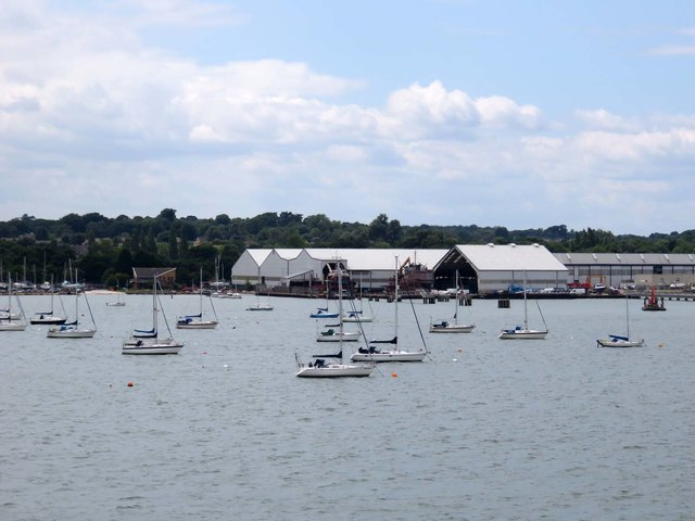 Solent Refit's boatyard in Hythe