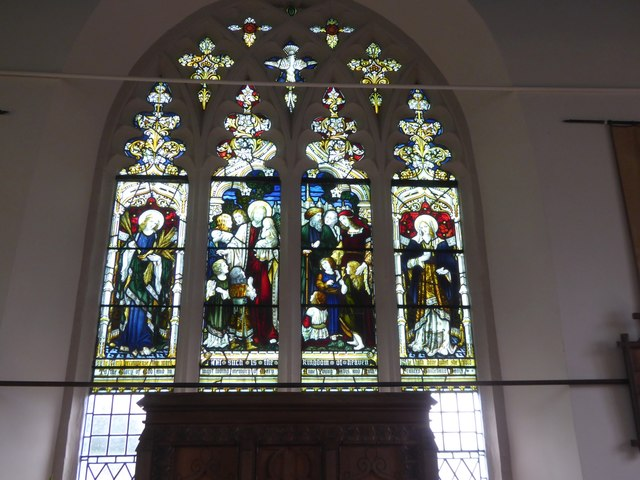 East window of St Luke's chapel, Posbury