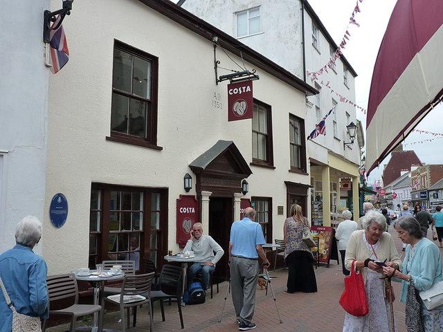 The former 'Old Ship' cafe