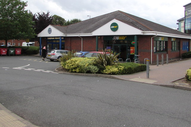 Subway and Carphone Warehouse in Worcester
