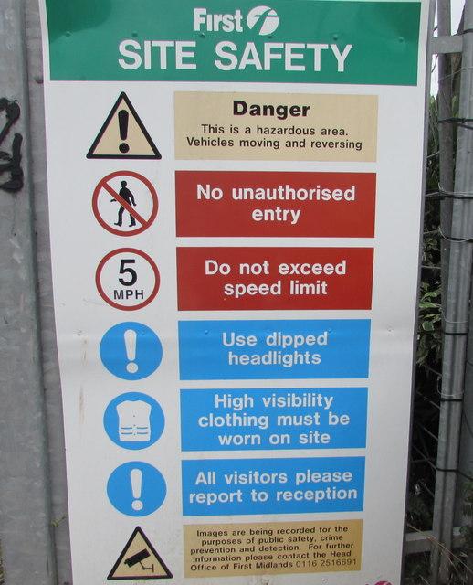 Worcester Bus Depot yard site safety regulations