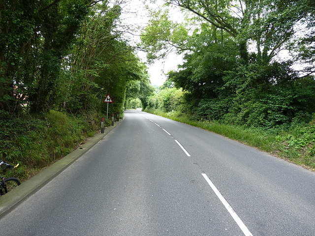 A3052 towards Stowford