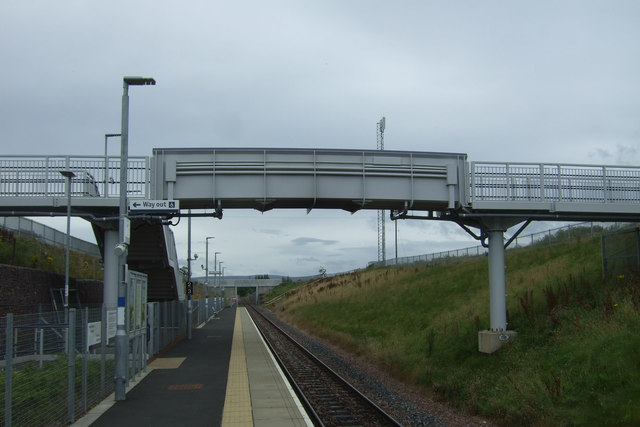 Foot bridge over Eskbank Railway Station